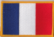 France Embroidered Flag Patch, style 08.
